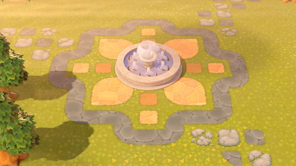 Photo of A fountain design I made. 🥰 : AnimalCrossing