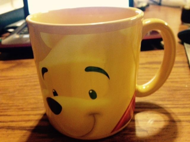 Oversized Disney Store Winnie The Pooh Yellow Mug. Sweet Winnie The Pooh  Face!