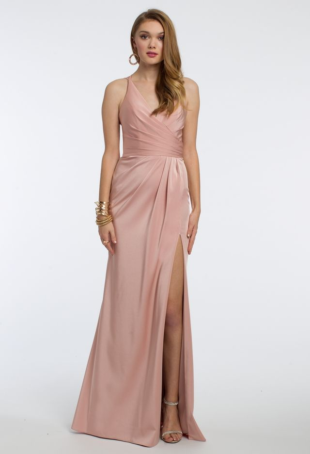 Ruched Satin Dress | Prom | Pinterest