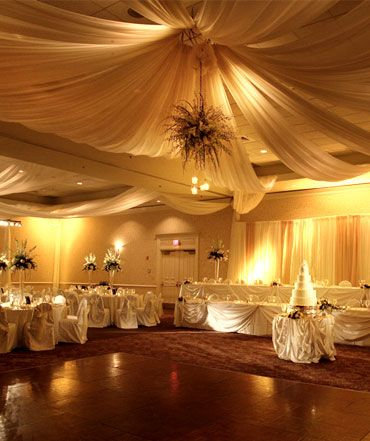 Wedding reception chateau elan ballroom evening for Hotel wedding decor