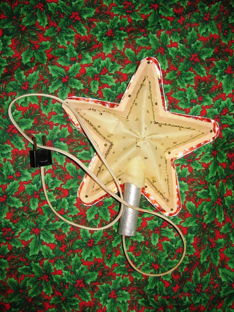 1950\'s Lighted Christmas Tree Star, Foil, North Star, Christmas Tree ...