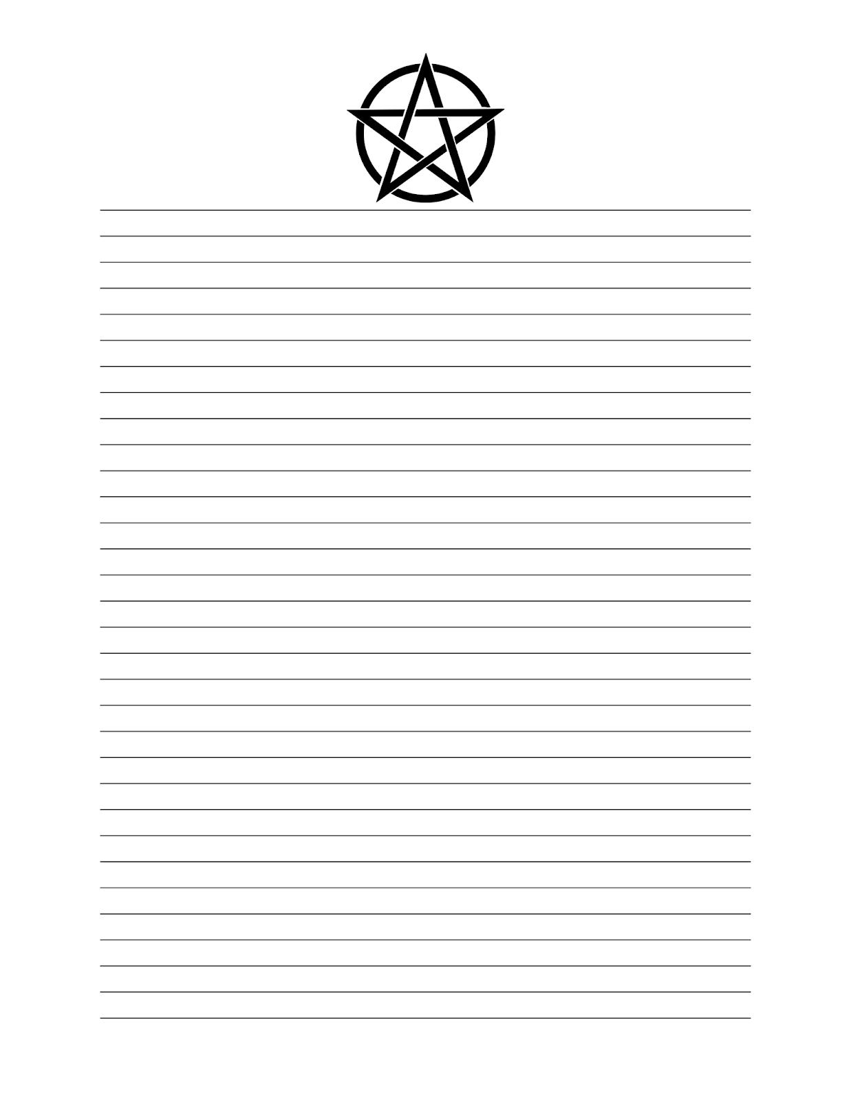 Pentagram Header Stationary Page