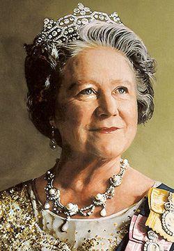 Reina Elizabeth, la reina madre, nacida en 1900, murió tranquilamente mientras dormía el 30 de marzo del 2002.