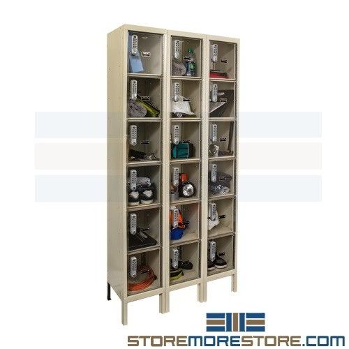 Contraband Box Lockers Six Storage Doors High 12 X12 X12 Openings Glass Lockers 10 51 33 Glass Door Locker See In Locker Visible Locker Locker R Lockers Door Locker Hallowell