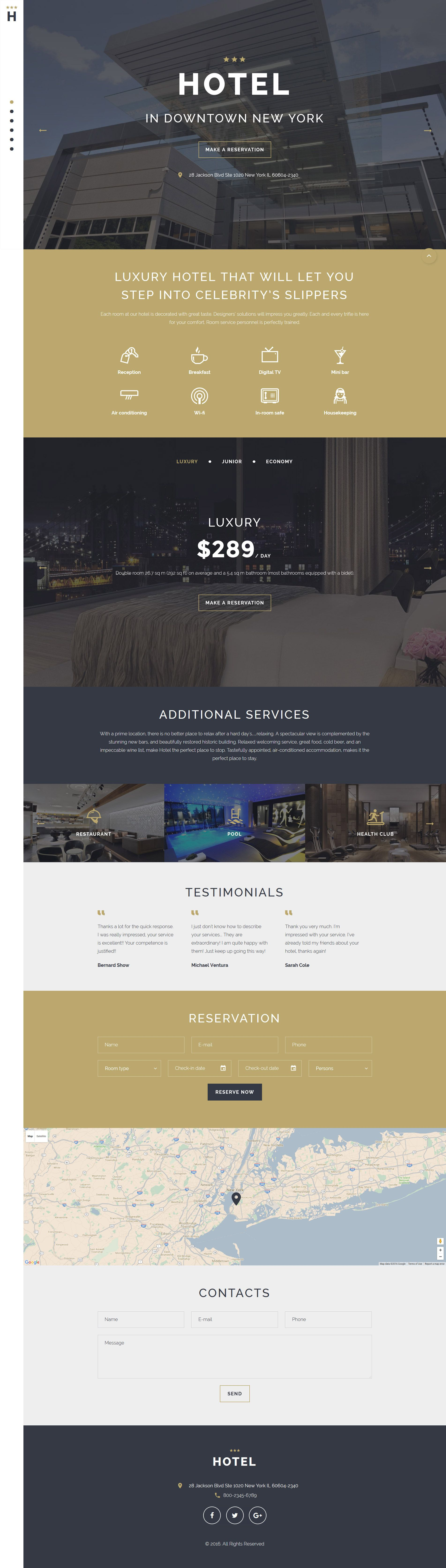 Hotels Responsive Landing Page Template | Template, Website and ...