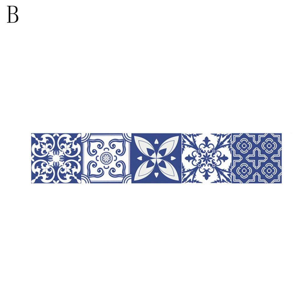 Photo of Mediterranean Style PVC Tile Stickers Moistureproof Bathroom Kitchen Home Decor – as the picture aa
