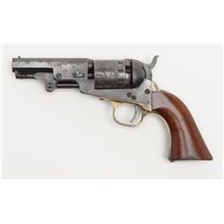"""Manhattan """"Navy Type"""" percussion revolver, .36 cal., 3-1/2"""" octagon barrel, blue and case hardened"""