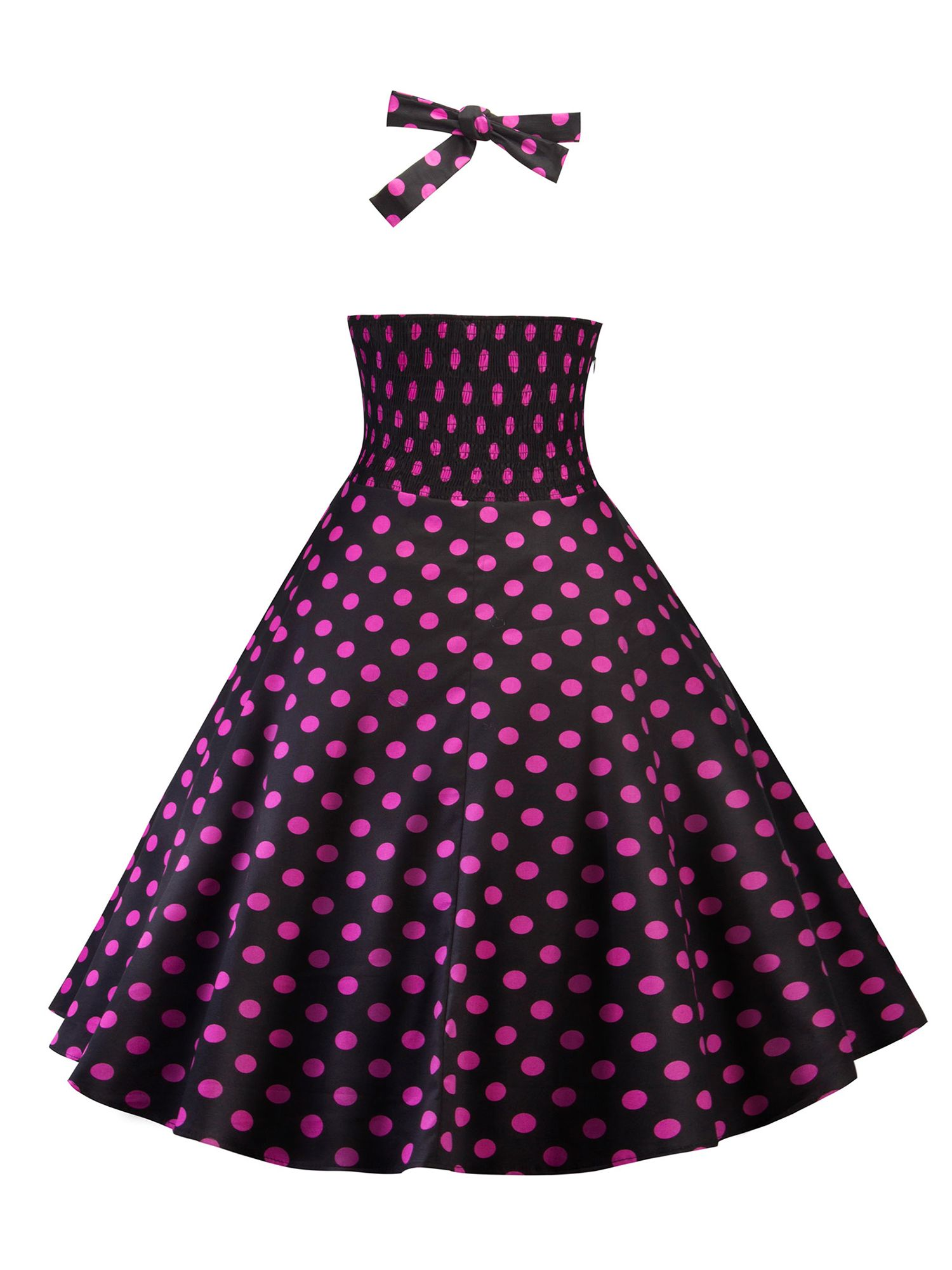 a8f0a2e29c0bc Vintage Dress for Women 50s 60s Retro Floral Print Rockabilly Halter Swing  Dress Party Prom Pinup Cocktail Ball Gown#Retro, #Print, #Floral