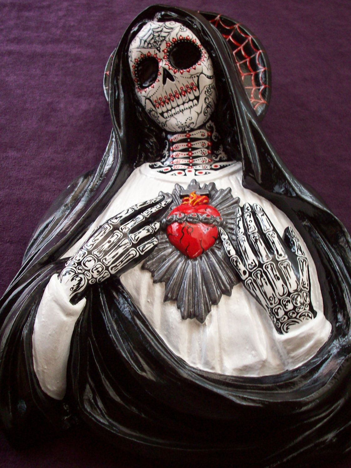 Day of the Dead VIRGIN MARY Sacred Heart wall art Sugar & Super SALE ... Day of the Dead VIRGIN MARY Sacred Heart wall art ...