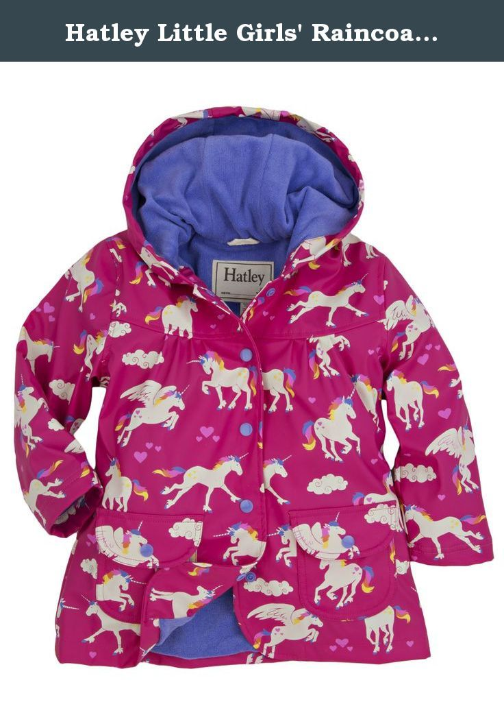 b207e2c22 Hatley Little Girls' Raincoat Unicorns and Rainbows, Pink Unicorns and  Rainbows, 2. Let it rain with Hatley raingear! at first we didn't want to  make ...