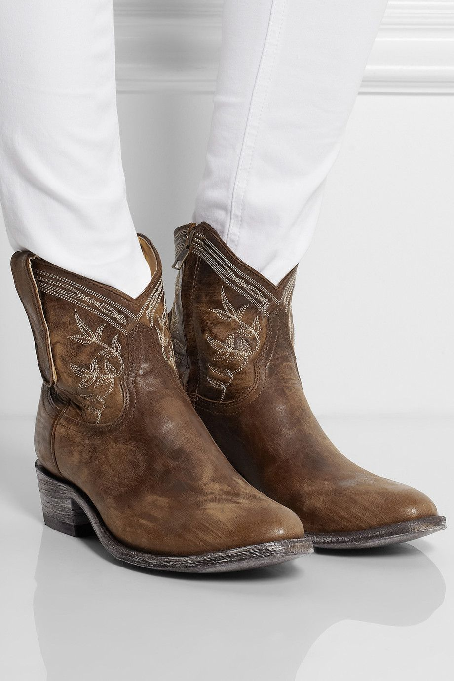 Mexicana Leather Ankle Boots 8YwBOFdeA