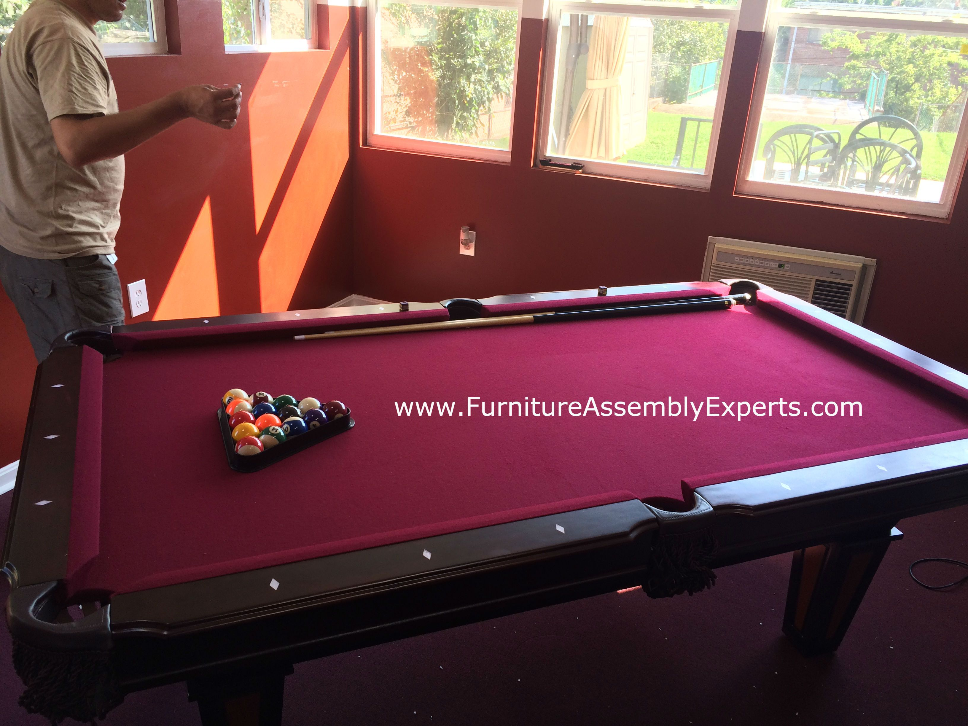 Billiard Pool Table Disassembly Moving Relocation Call - Pool table assembly service near me