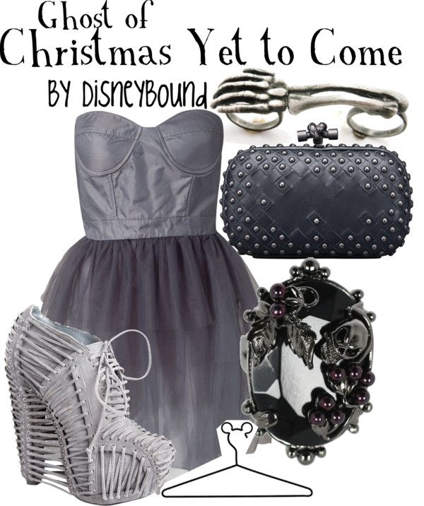 """""""Ghost of Christmas Yet to Come"""" by lalakay on Polyvore 