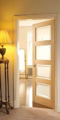 4 Panel Oak Shaker Glazed Interior Door Internal Doors Doors