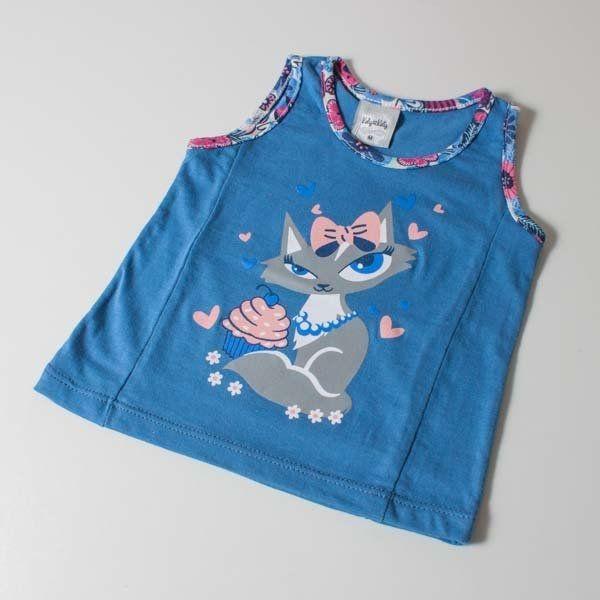 Blusa Kids Azul   Moda Love
