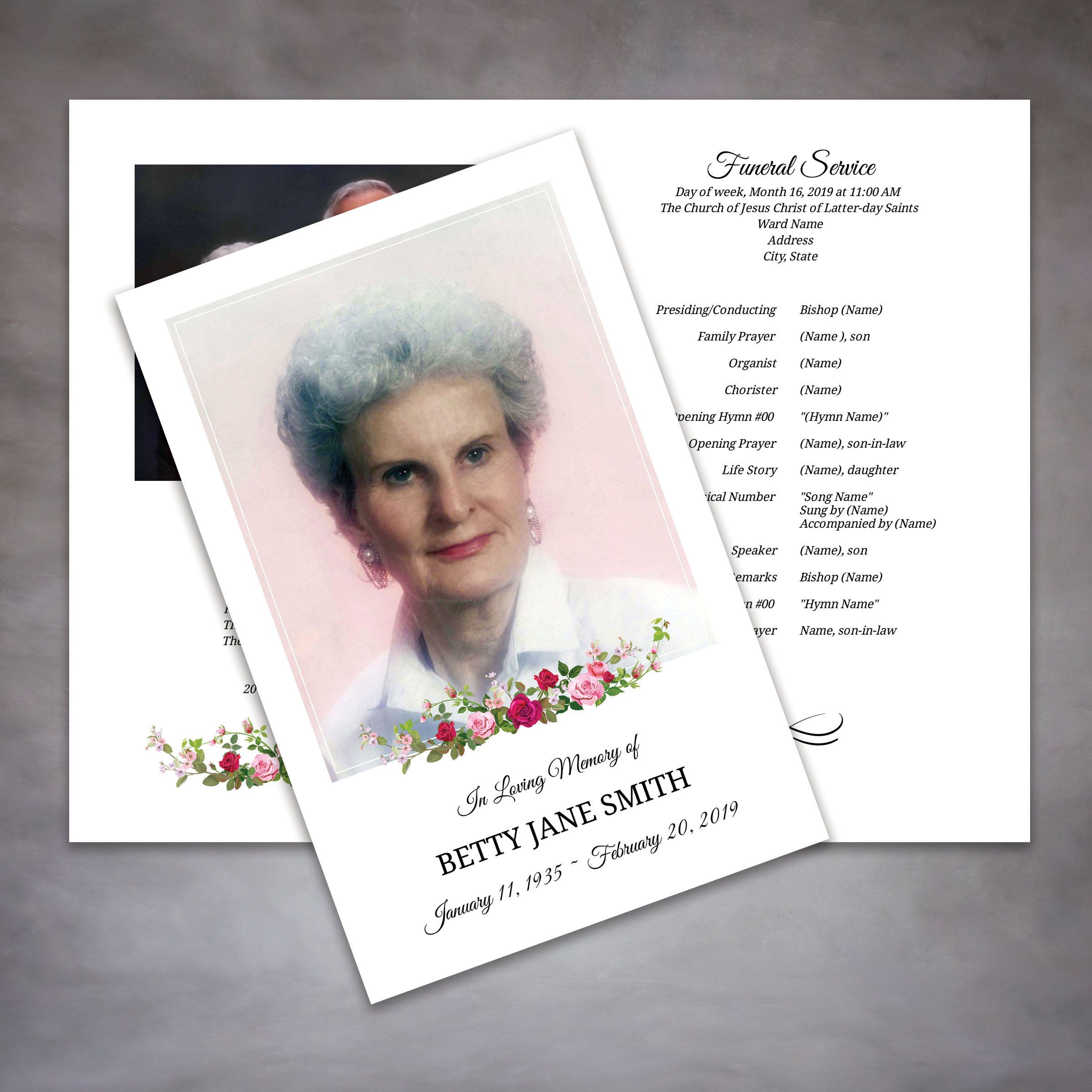 Pin On Memorial Legacy Program Templates