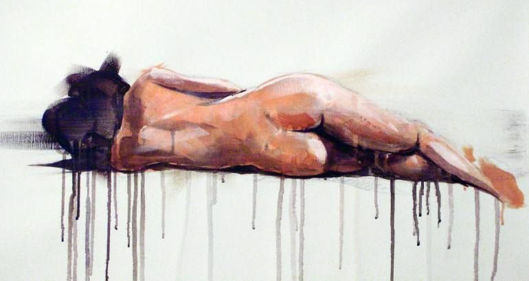 "Saatchi Art Artist dario moschetta; Painting, ""NUDE 8 (SOLD)"" #art"