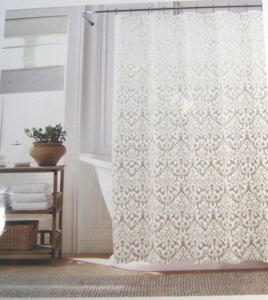 Details About Tommy Hilfiger Modern Damask Ombre Shower Curtain