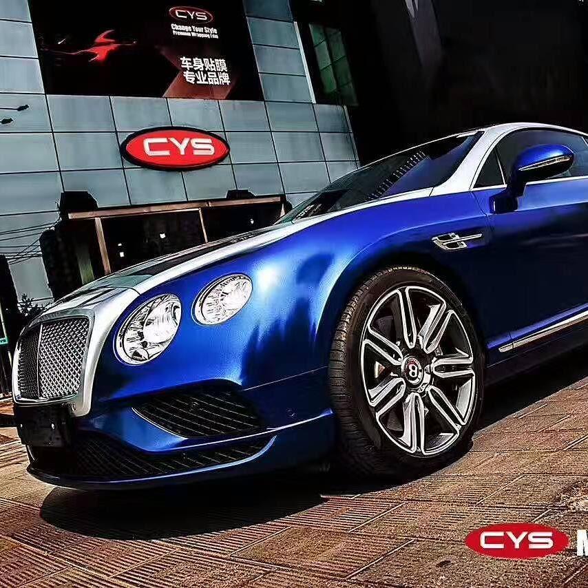 Bentley Magic Deep Blue Color Car Wrap Film