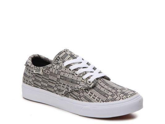 Women's Vans Camden Deluxe Optical Sneaker Black/White