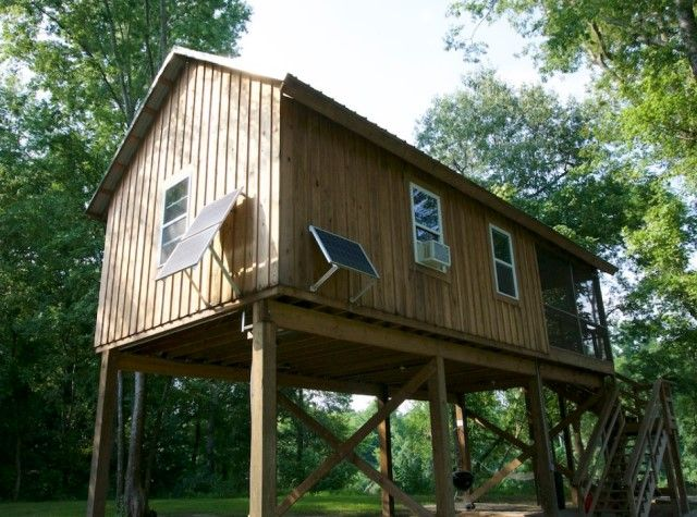 Wooden Cottages House On Stilts 1 Bathroom 9 House On Stilts