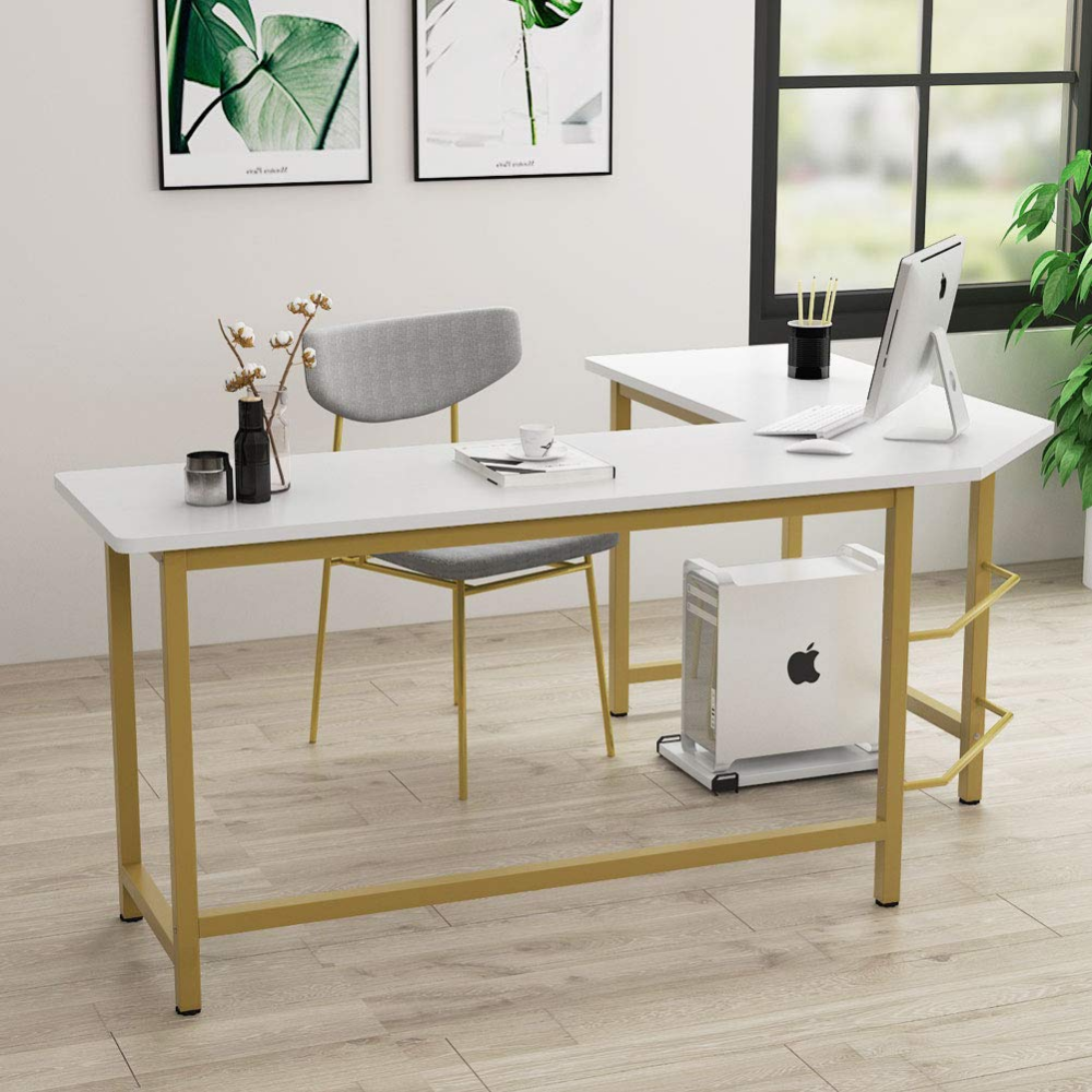 Amazonsmile Tribesigns Modern L Shaped Desk Corner Computer Office Desk Pc Laptop Gamin Home Office Furniture Desk Modern L Shaped Desk Home Office Furniture