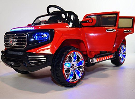 Amazon Com Electric Car 2 Seater Four Opening Doors Cars Girls And Boys With Remote Control Battery Operate Ride On Toys Childcare American Girl Doll Sets