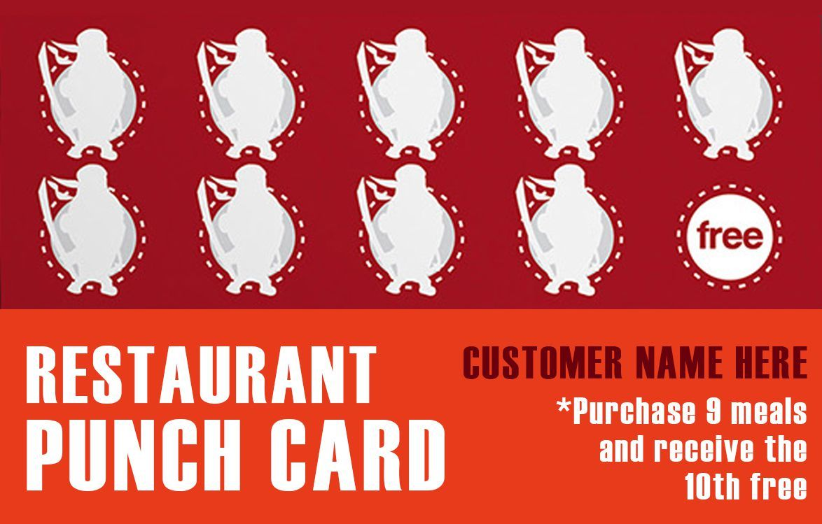 50 Punch Card Templates For Every Business Boost Customer Loyalty Template Sumo Punch Cards Business Boost Card Templates