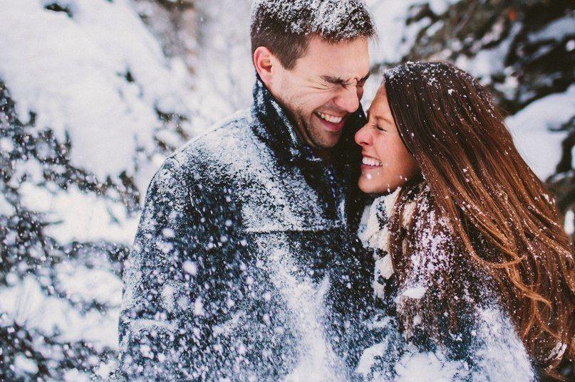 с любимым на снегу фото основу гипсового