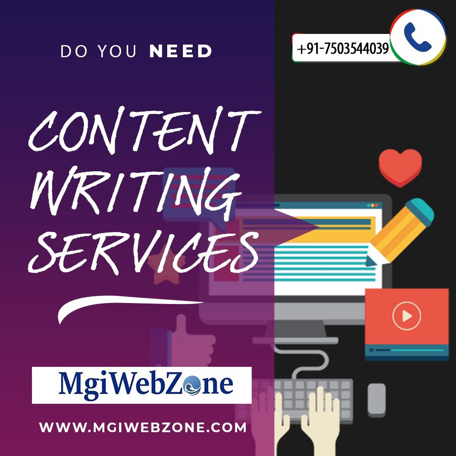 Do you need content writing services for your website? At MgiWebzone you will get the high quality, relevant and useful content writing service on your websites. The best Content Writing Service helps in ranking and also gives you the vital content like articles, blogs, and web content. We have high qualified Content Writers to write the informational content and attract the more traffic and more online business.