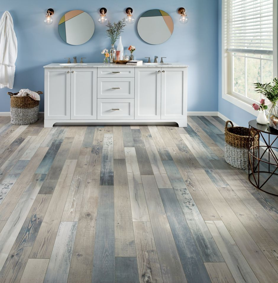 Armstrong waterfront sky blue pryzm pc012 in 2019 - Laminate tiles for bathroom walls ...