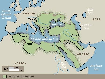 The Ottoman Empire At Its Height Controlled Important