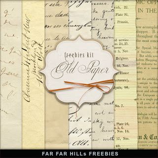 New Freebies Kit of Old Paper:Far Far Hill - Free database of digital…