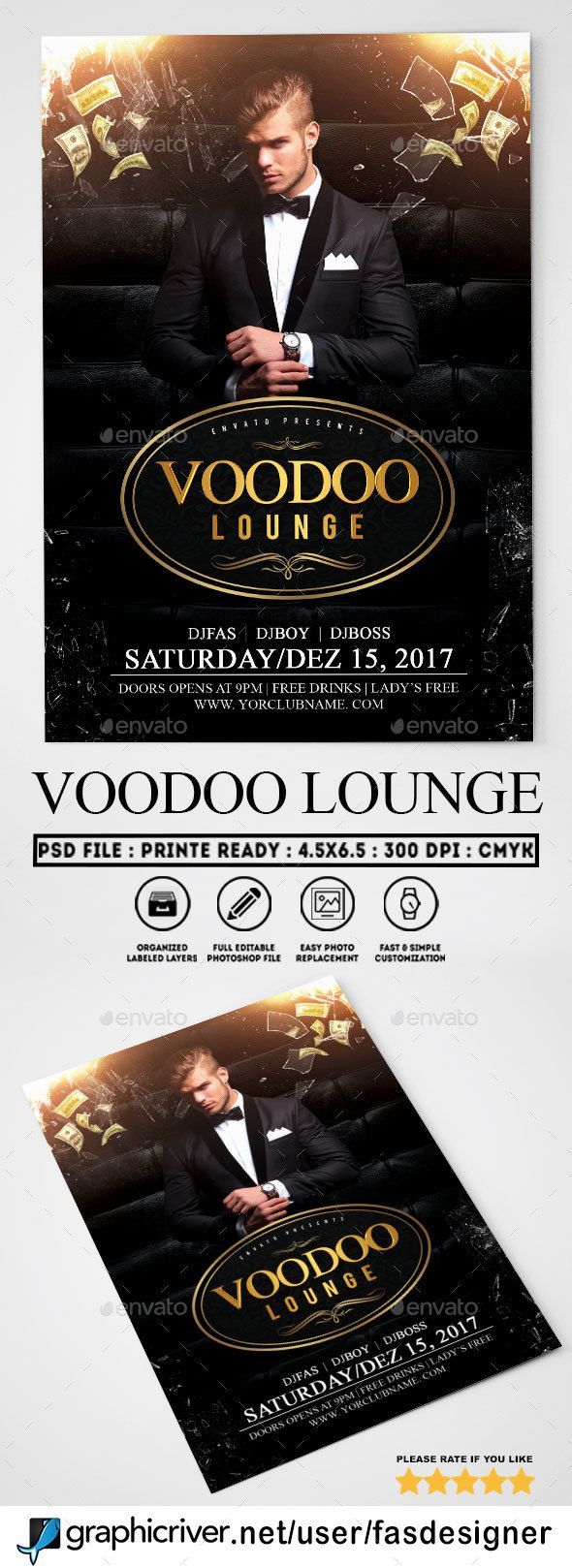 Voodoo Lounge Flyer Template  Flyer Template Voodoo And Template