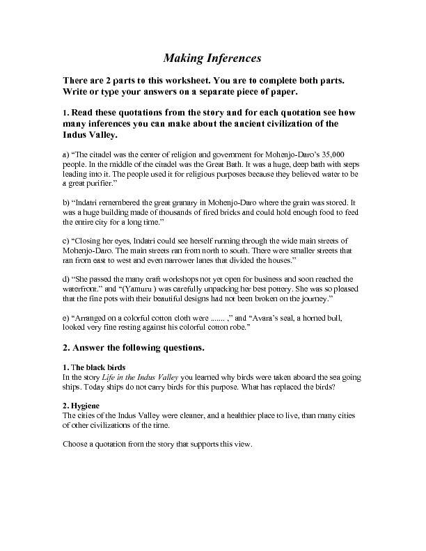 Making Inferences Worksheet | Lesson Planet | school | Pinterest ...