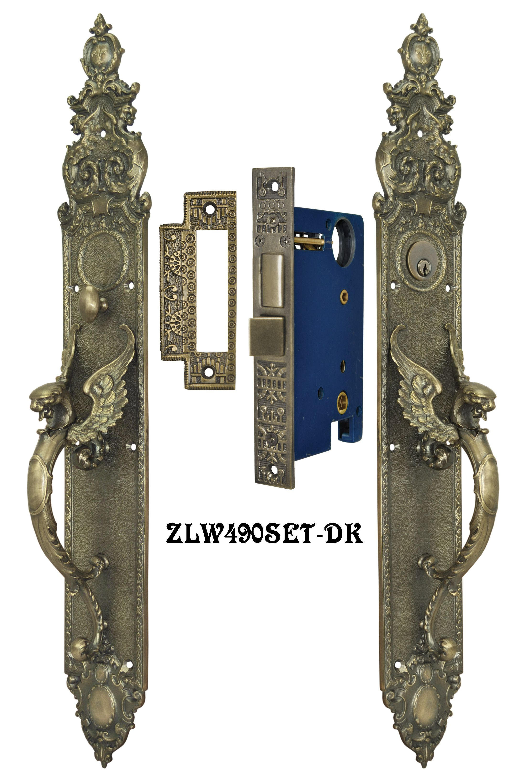 Reproduction Griffin Or Dragon Thumblatch Set 23 Door Sets Entry Door Hardware Entry Doors
