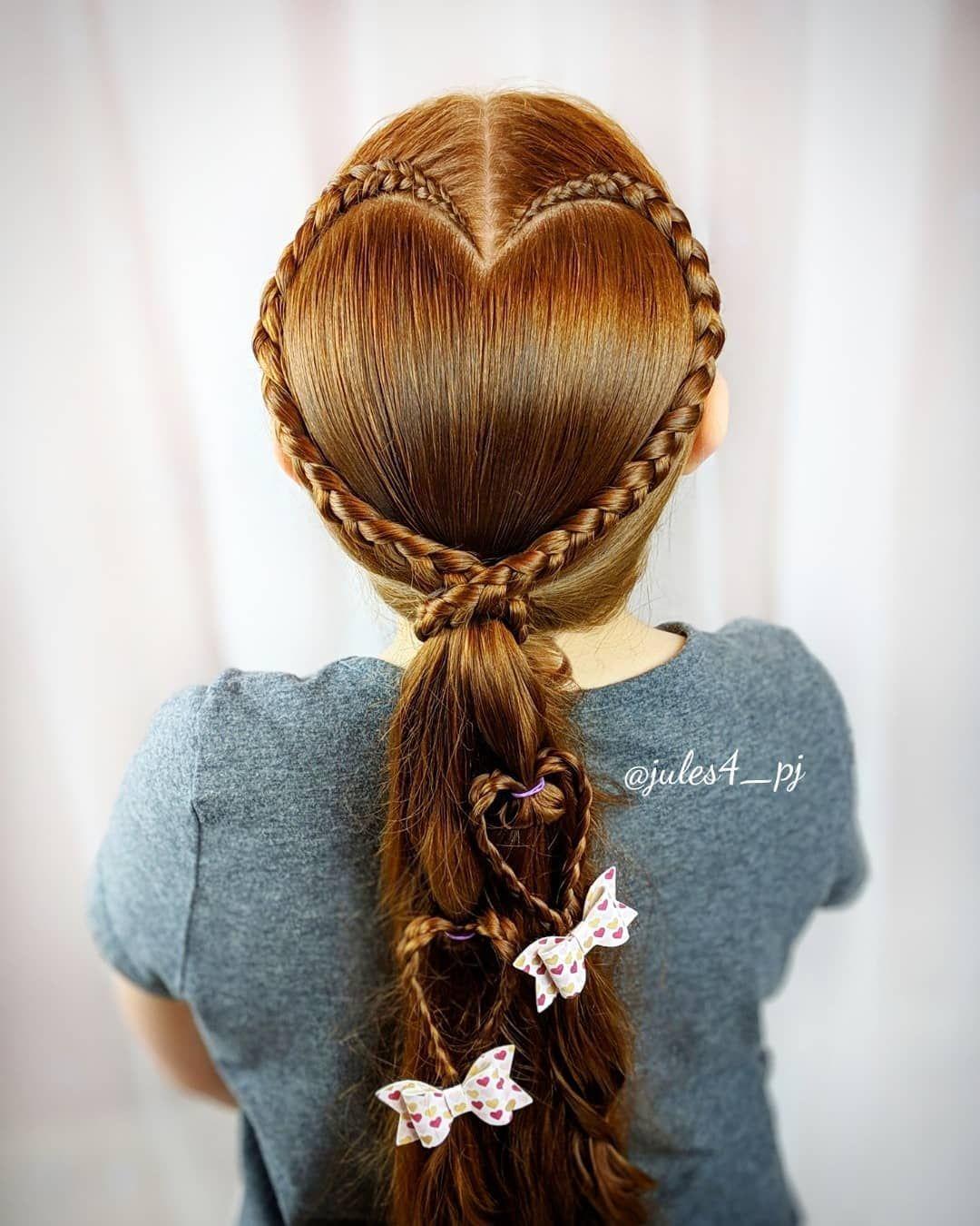 Fantastic Heart Hair Valentines Hair Cute Girl Hairstyles Fun Braids Schematic Wiring Diagrams Phreekkolirunnerswayorg