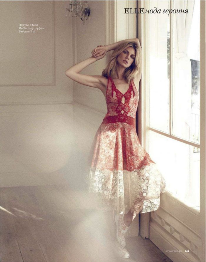 Angela Lindvall's Spring Promise By Xavi Gordo For Elle Russia March 2014