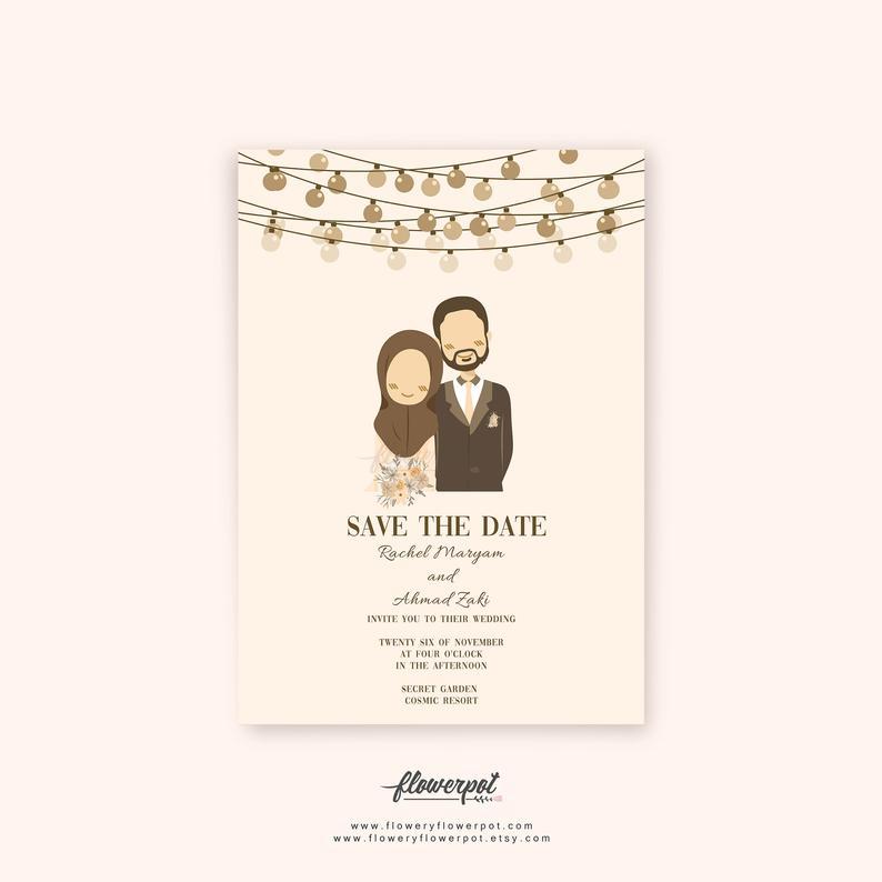 muslim wedding invitations printable
