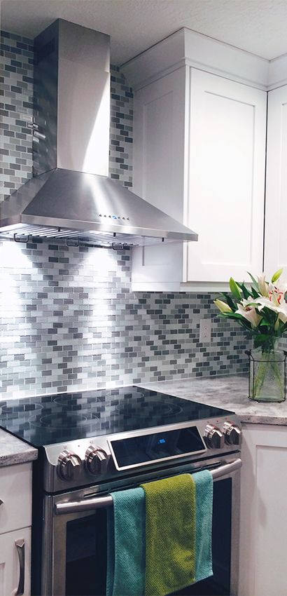 Beautiful Stainless Steel Wall Mount Range Hood From Proline Hoods Clic White Kitchen With