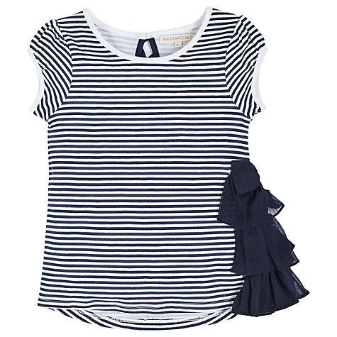 Buy Angel & Rocket Girls' Sienna Striped T-Shirt, Navy/White Online at johnlewis.com