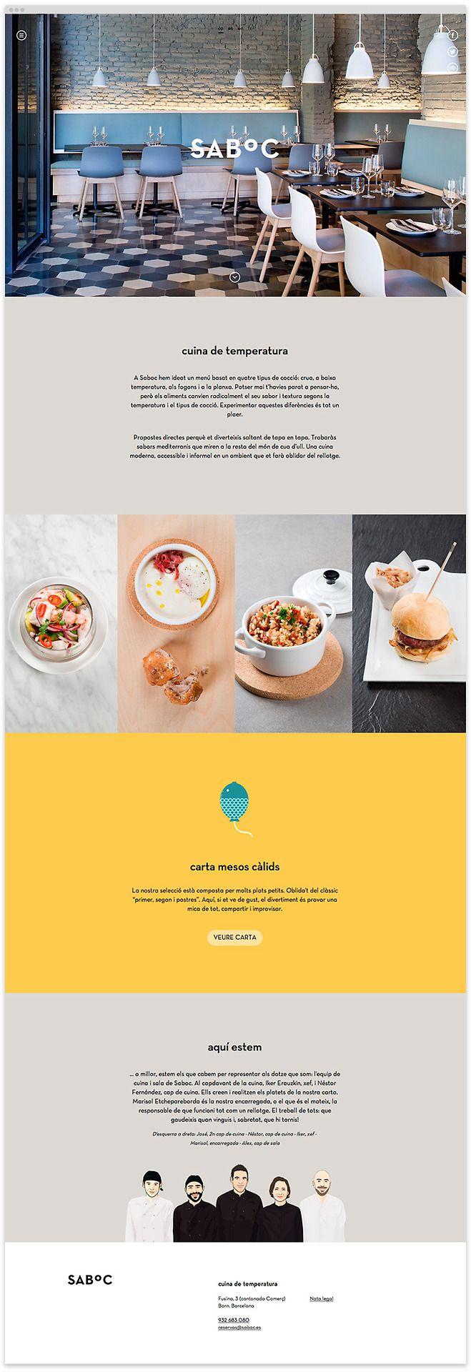 http//www.saboc.es/ Web design, Food, Webs