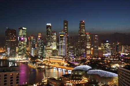 Singapore city's wonderful setting! | Beautiful City View