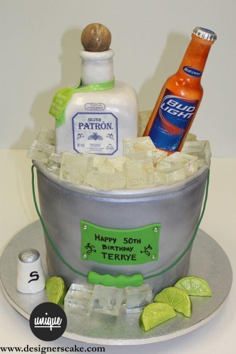 Sculpted Cakes Unique Designers Cakes Miami South Florida - Patron birthday cake