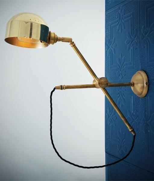 Polished Brass Fully Adjustable Swing Arm Wall Light Adjustable Wall Light Quirky Wall Lights Swing Arm Wall Light