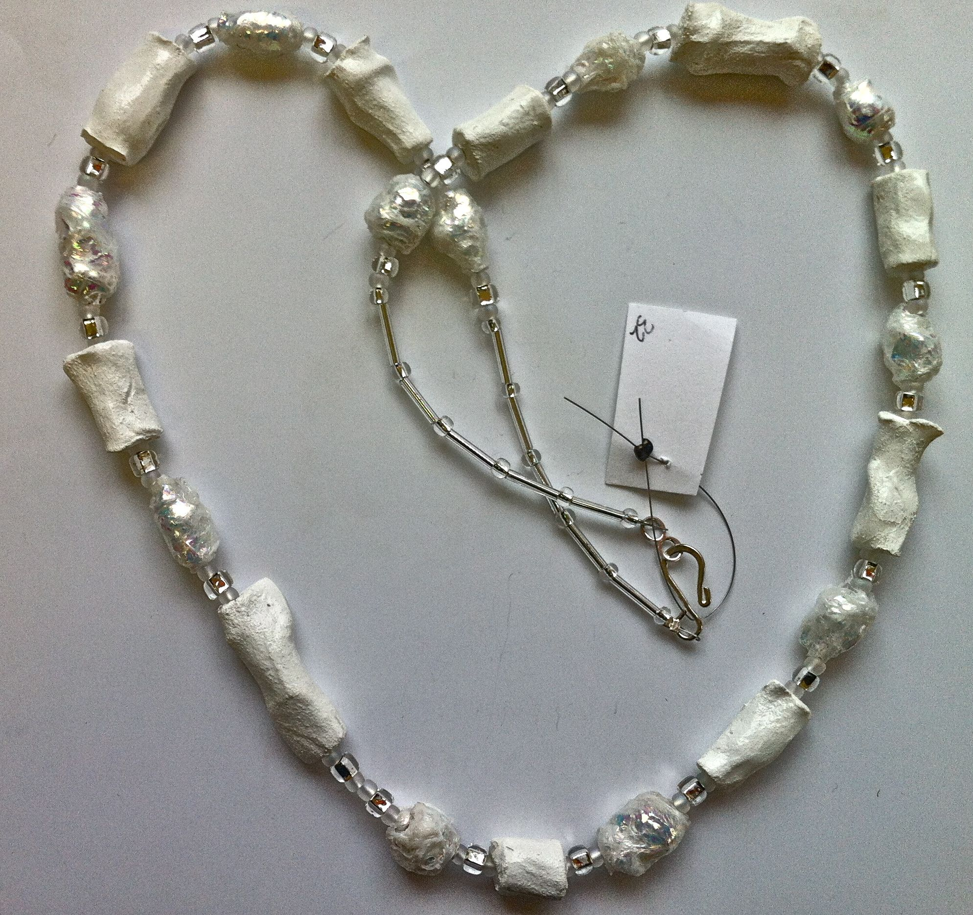 Hilary bravo papier mache necklace jewelry paper for How to make paper mache jewelry