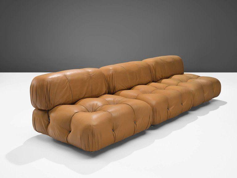 Mario Bellini Modular Camaleonda Sofa In Original Cognac Leather Upholstery Italy 1972 The Sectional Eleme Modular Sofa Sofa Outdoor Lounge Chair Cushions