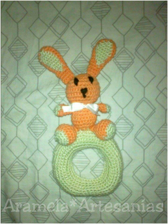 Patrones para tejer un sonajero para bebés en forma de conejo ...