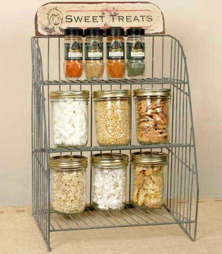 Rustic Industrial Country General Store Sweet Treats Countertop
