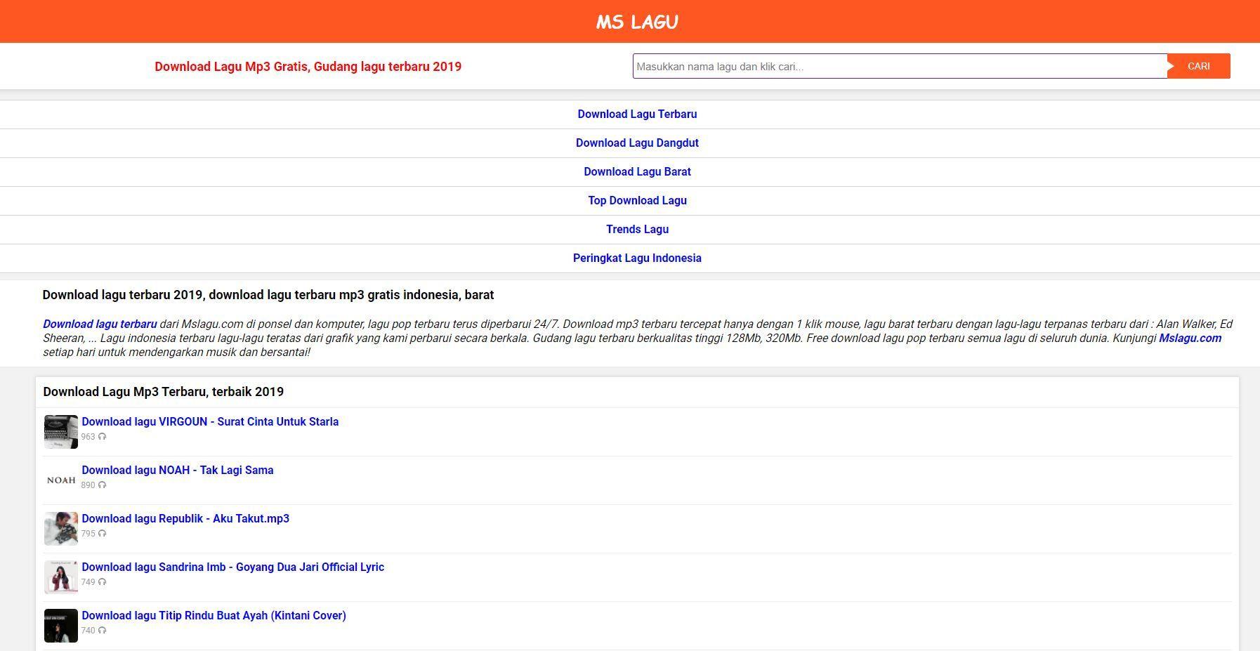 Download Lagu Terbaru Dari Mslagu Com Di Ponsel Dan Komputer Lagu
